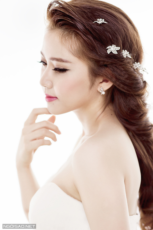 Những kiểu tóc cô dâu đẹp 2016 đơn giản cho mọi khuôn mặt phần 12