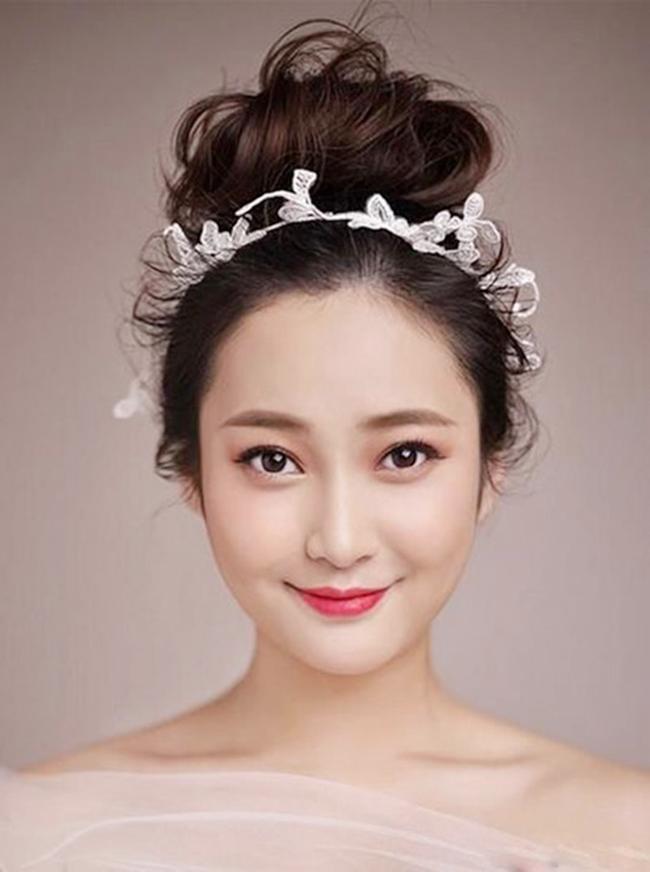 Những kiểu tóc cô dâu đẹp 2016 đơn giản cho mọi khuôn mặt phần 5