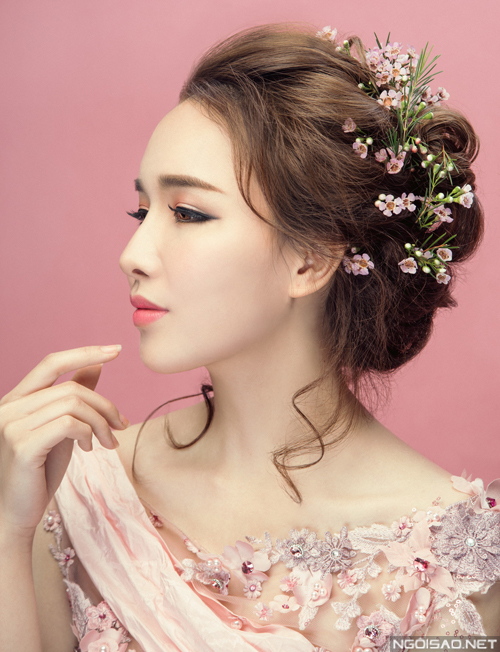Những kiểu tóc cô dâu đẹp 2016 đơn giản cho mọi khuôn mặt phần 9