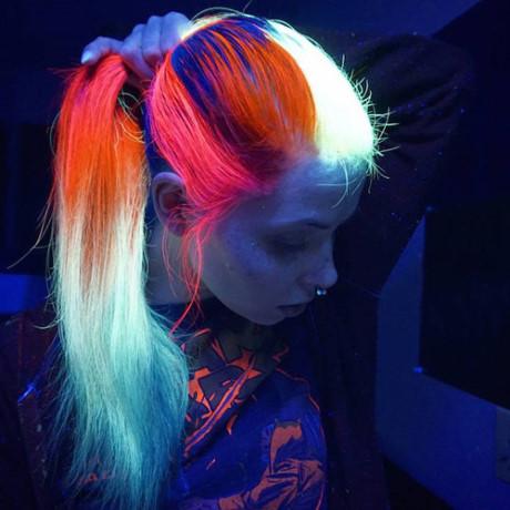 Màu tóc nhuộm phát sáng trong bóng tối - Xu hướng tóc nhuộm hot nhất 2017 phần 13