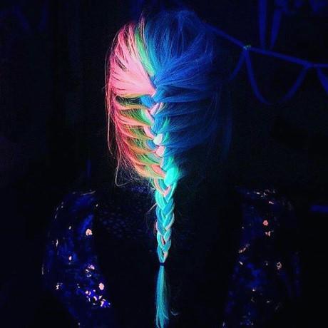 Màu tóc nhuộm phát sáng trong bóng tối - Xu hướng tóc nhuộm hot nhất 2017 phần 4