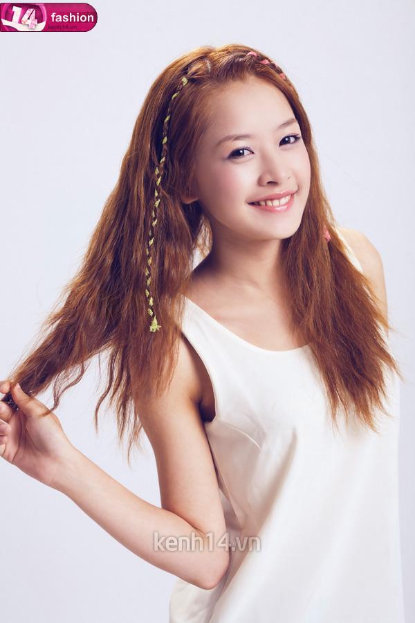 Tóc tết mái đẹp nhất hiện nay 2016 của hot girl Chi Pu phần 10