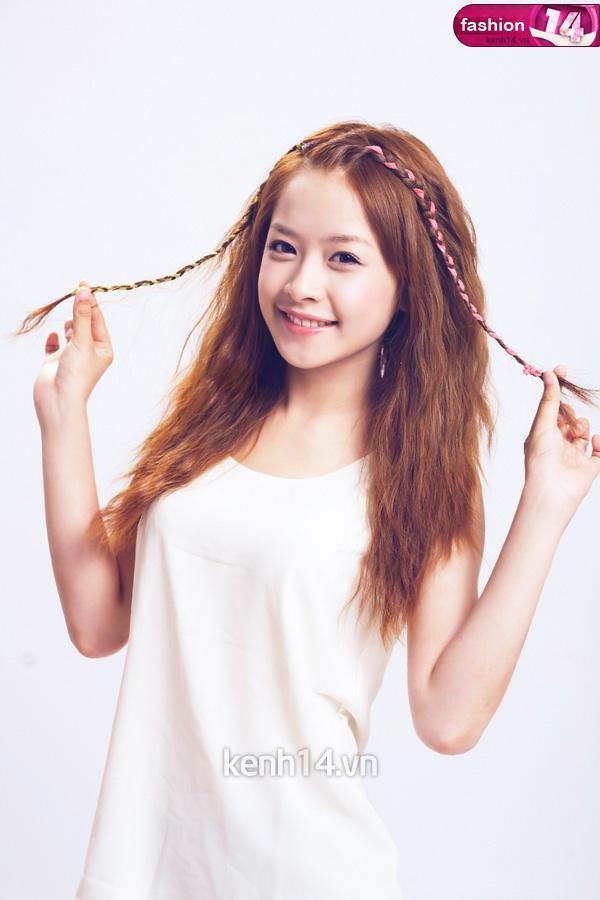 Tóc tết mái đẹp nhất hiện nay 2016 của hot girl Chi Pu phần 11