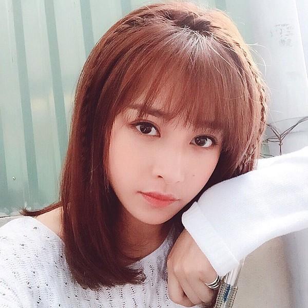 Tóc tết mái đẹp nhất hiện nay 2016 của hot girl Chi Pu phần 3