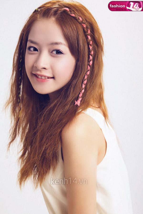 Tóc tết mái đẹp nhất hiện nay 2016 của hot girl Chi Pu phần 8