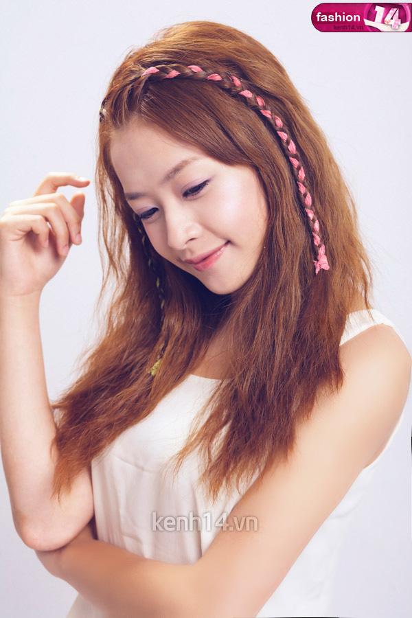 Tóc tết mái đẹp nhất hiện nay 2016 của hot girl Chi Pu phần 9