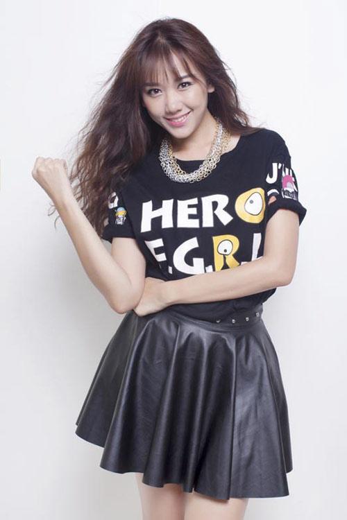 BST 14 kiểu tóc uốn xoăn retro đẹp Hari Won ưa chuộng hè 2017 phần 5