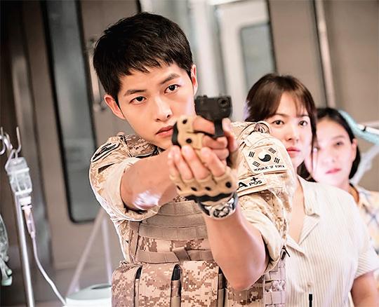 Kiểu tóc nam cắt ngắn đẹp của Song Joong Ki trong phim Hậu duệ mặt trời phần 11