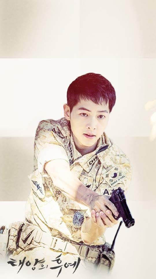Kiểu tóc nam cắt ngắn đẹp của Song Joong Ki trong phim Hậu duệ mặt trời phần 4