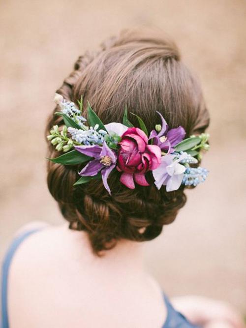 Tóc cô dâu cài hoa đẹp hot nhất trong mùa cưới năm nay 2016 phần 10