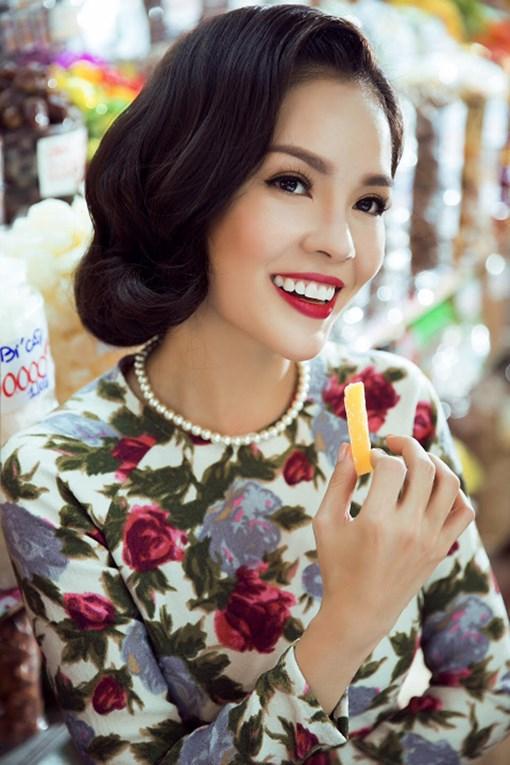 Tóc uốn xoăn ngắn cổ điển đẹp nhất 2016 của mỹ nhân Việt phần 1