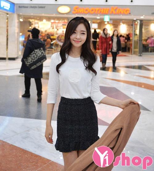 Áo sơ mi nữ vải voan cổ tròn công sở Hàn Quốc đẹp hè 2017 cho nàng vai ngang phần 8