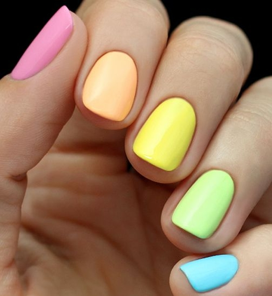 Kết quả hình ảnh cho Nail màu neon