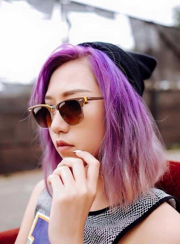Tóc nhuộm màu tím khói đẹp được giới trẻ yêu thích nhất 2016 phần 10