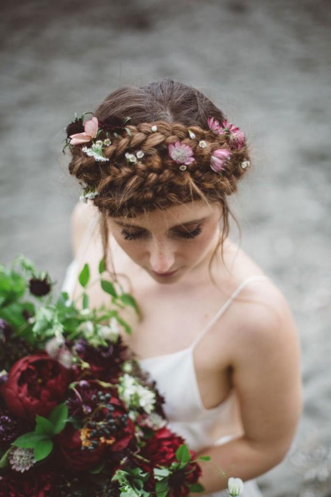 Tóc tết vương miện đẹp cho cô dâu sang trọng ngày cưới 2016 phần 3