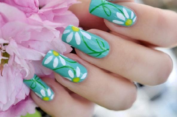 Mẫu nail hình hoa đẹp cho mùa hè 2017 cực dễ thương quyến rũ phần 2