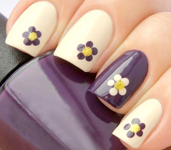 Mẫu nail hình hoa đẹp cho mùa hè 2017 cực dễ thương quyến rũ phần 9