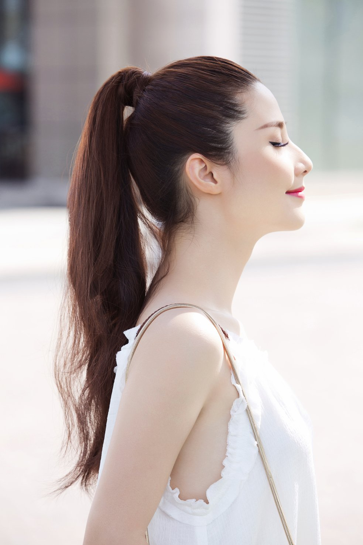 Kiểu tóc buộc đuôi ngựa đẹp hợp phong cách hàn quốc ngày hè 2017 phần 7