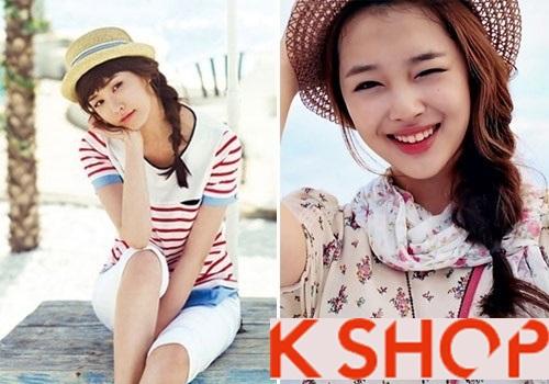 Lựa chọn kiểu tóc nữ đẹp phong cách Hàn Quốc cho bạn gái dạo phố hè 2017 phần 8