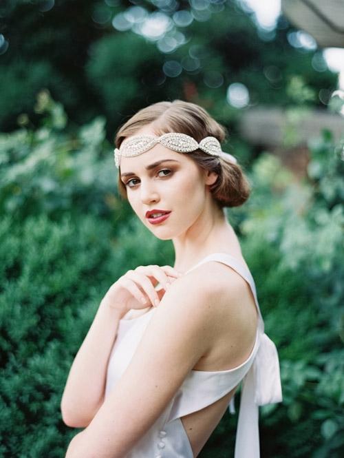 Gợi ý kiểu tóc cô dâu vintage đẹp mới nhất 2017 cho nàng tóc ngắn phần 1