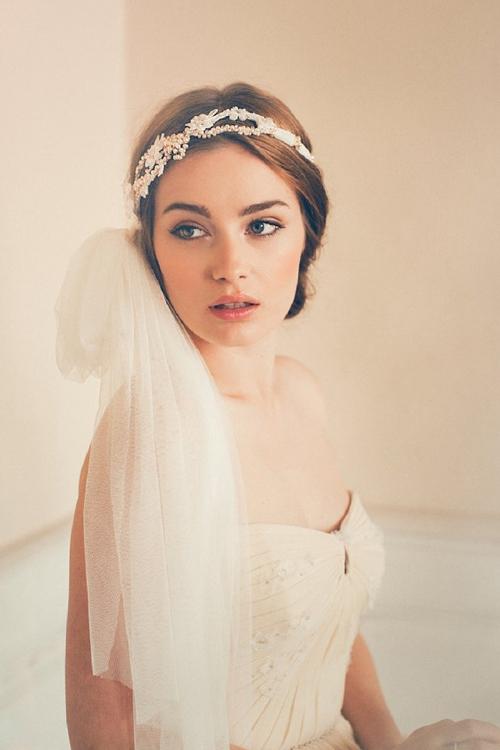 Gợi ý kiểu tóc cô dâu vintage đẹp mới nhất 2017 cho nàng tóc ngắn phần 12