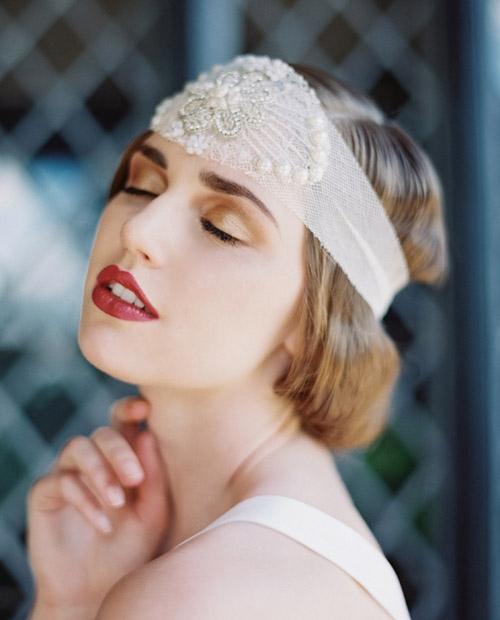 Gợi ý kiểu tóc cô dâu vintage đẹp mới nhất 2017 cho nàng tóc ngắn phần 2