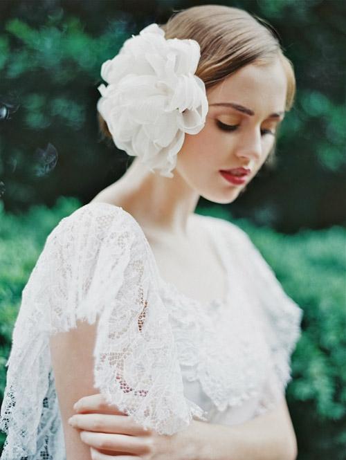 Gợi ý kiểu tóc cô dâu vintage đẹp mới nhất 2017 cho nàng tóc ngắn phần 8