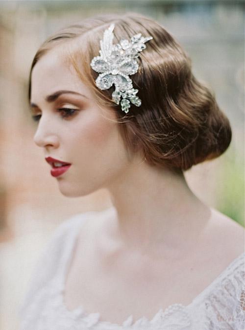 Gợi ý kiểu tóc cô dâu vintage đẹp mới nhất 2017 cho nàng tóc ngắn phần 9