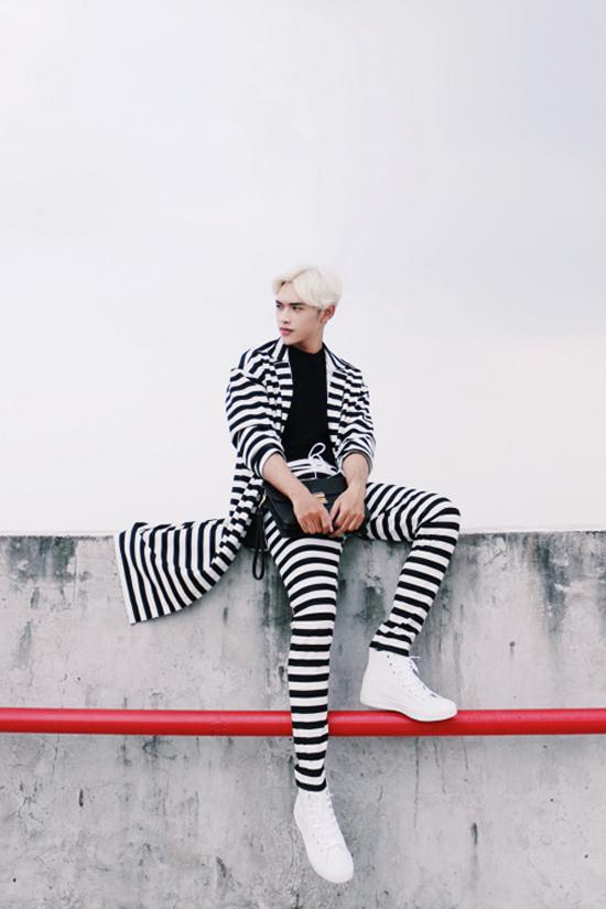 Tóc nam nhuộm màu bạch kim đẹp của hotboy Việt cực chất nhất 2017 phần 7