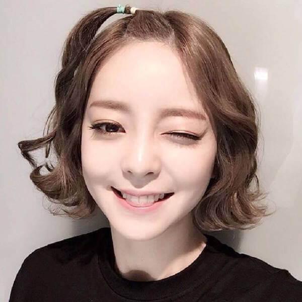 Kiểu tóc ngắn uốn xoăn hàn quốc đẹp 2017 được các hotgirl yêu thích nhất phần 12