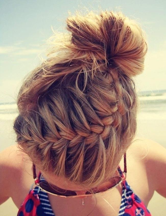 Những kiểu tóc búi đẹp nhất cho ngày hè 2016 - 2017 thêm mát mẻ cá tính phần 9