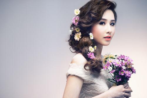 Bật mí kiểu tóc cô dâu đẹp 2016 - 2017 cho nàng khuôn mặt tròn lộng lẫy nhất phần 10