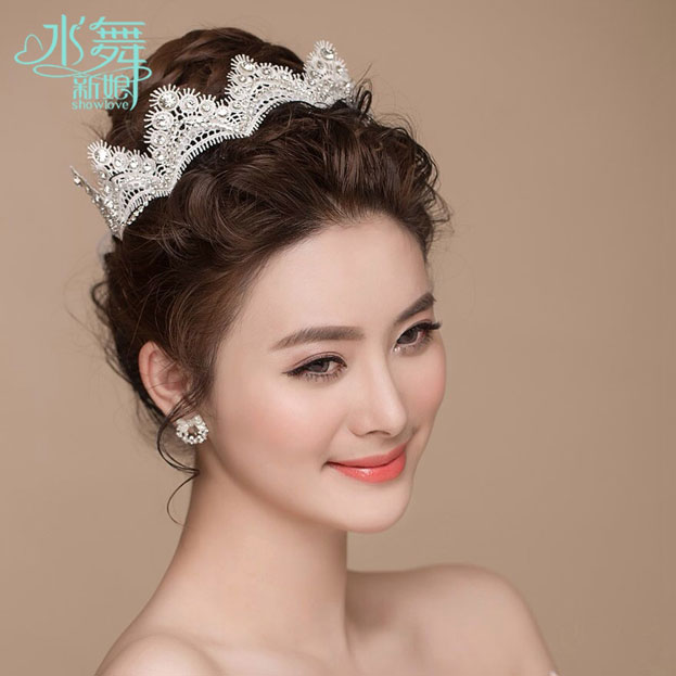 Bật mí kiểu tóc cô dâu đẹp 2016 - 2017 cho nàng khuôn mặt tròn lộng lẫy nhất phần 11