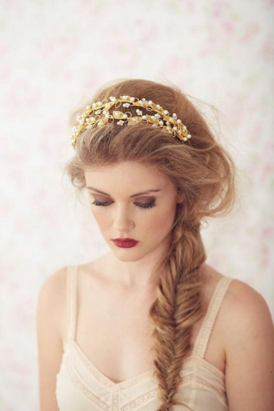 Bật mí kiểu tóc cô dâu đẹp 2016 - 2017 cho nàng khuôn mặt tròn lộng lẫy nhất phần 13
