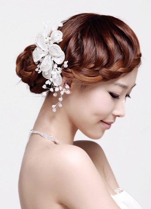 Bật mí kiểu tóc cô dâu đẹp 2016 - 2017 cho nàng khuôn mặt tròn lộng lẫy nhất phần 7