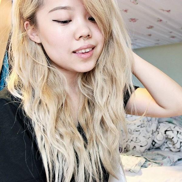 Kiểu tóc nhuộm màu vàng hoe đẹp cực chất của con gái Châu Á 2016 - 2017 phần 8