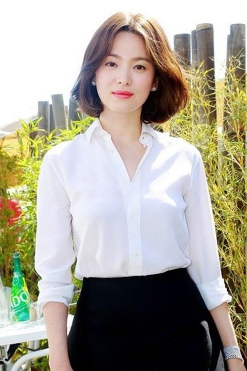 Muôn kiểu tóc rẽ ngôi giữa đẹp đang được mỹ nhân Hàn lăng xê 2017 phần 6