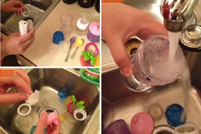 các bước vệ sinh bình sữa cho trẻ sơ sinh