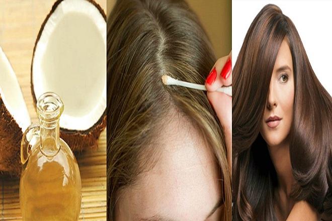 dầu dừa giúp tóc chắc khỏe