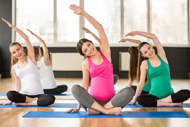 Động tác lườn góp phần làm tăng sự dẻo dai cho phần cơ liên sườn cho mẹ bầu