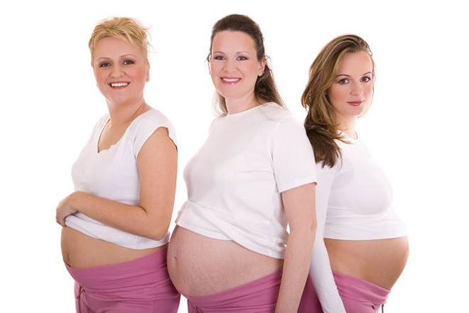kích thước vòng bụng của mẹ bầu