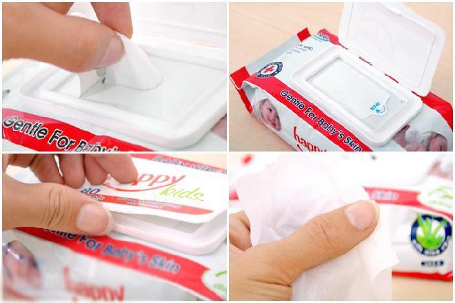kiểm tra bao bì và chất lượng khăn giấy ướt