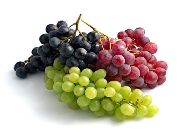 Nho là một trong những lọai trái cây có chứa hàm lượng fructose cao