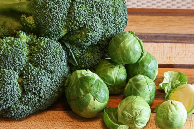 rau cải xanh chứa acid folic