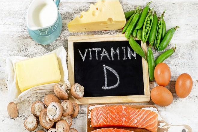 Những thực phẩm chứa nhiều vitamin D như thịt, cá, trưng