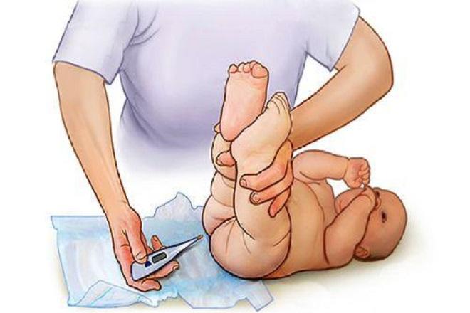 thụt hậu môn cho trẻ sơ sinh không đi ngoài được