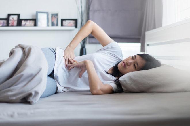 mang thai tuần thứ 6 bị đau bụng