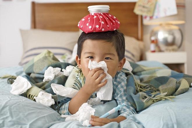 Trẻ dễ bị cảm cúm