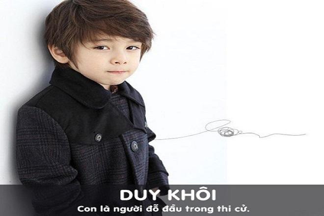 bé trai tên Duy Khôi