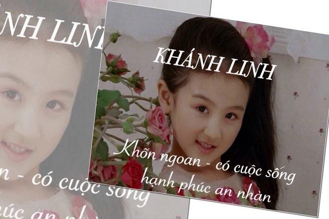 bé gái tên khánh Linh